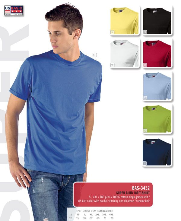 The US Basic T Shirts are a great quality clothing brand used for promotional clothing. We are a premier supplier of US Basic T Shirts in Cape Town#Tshirts