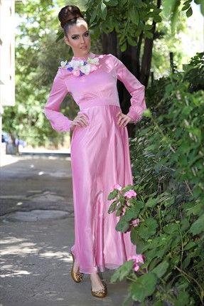 Gönül Kolat - Kadın Tekstil - Fuşya Elbise G060 sadece 279,99TL ile Trendyol da