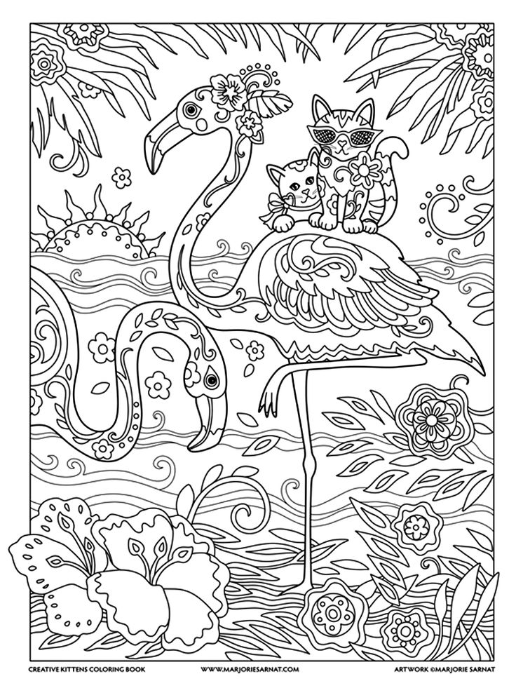 Cute Cats With Top Hats Coloring Pages