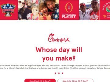 Chick-fil-A College Football Playoff Ticket Sweepstakes