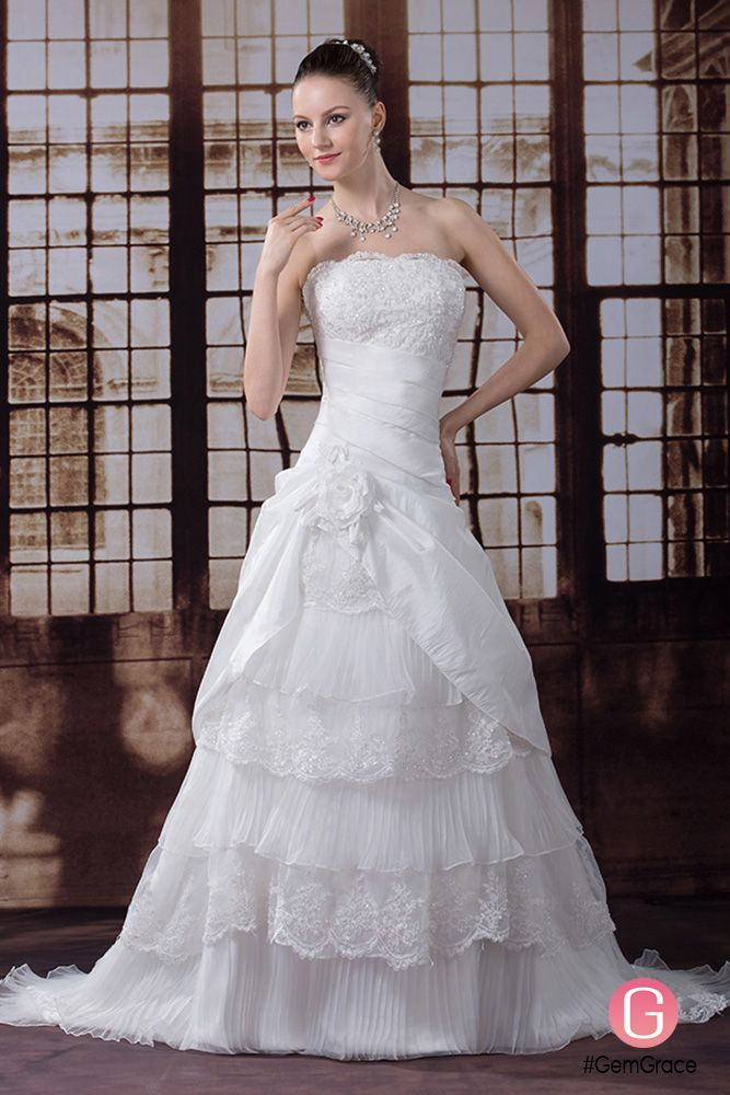 Wedding Dresses Beautiful Layered Taffeta Strapless Dress Oph1221 At Gemgrace View More Special Now Is A Solution For