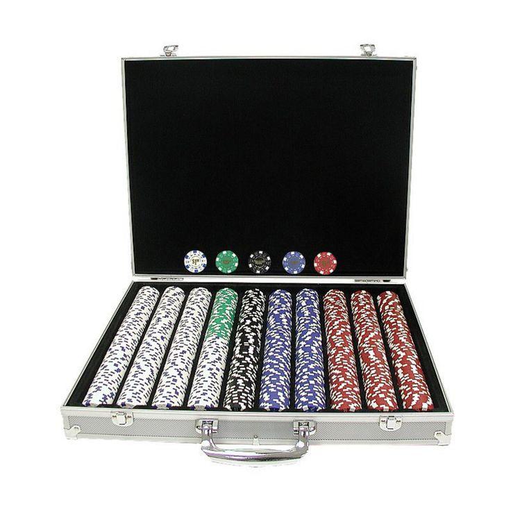 Trademark Poker 11.5g Landmark Casino Poker Set in Aluminum Case - 1000 Chips - 10-1095-1KS