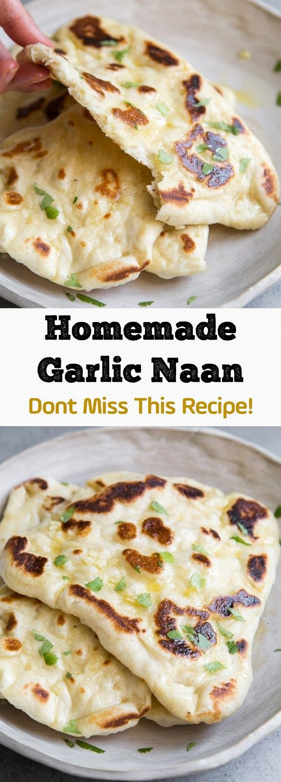 Homemade Garlic Naan – Dont Miss This Recipe! #naanbread
