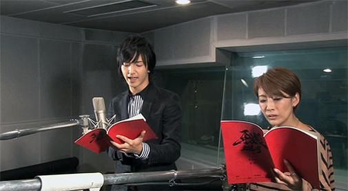 Garo: Guren no Tsuki voice recording session. Romi Park