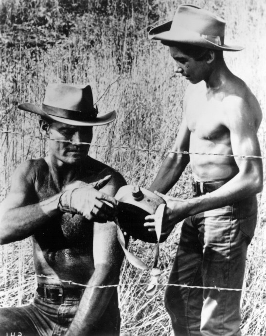 Johnny Crawford and Chuck Connors