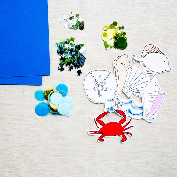 Darcy Miller Designs | Beach Party Kid's Table Placemat Inspiration