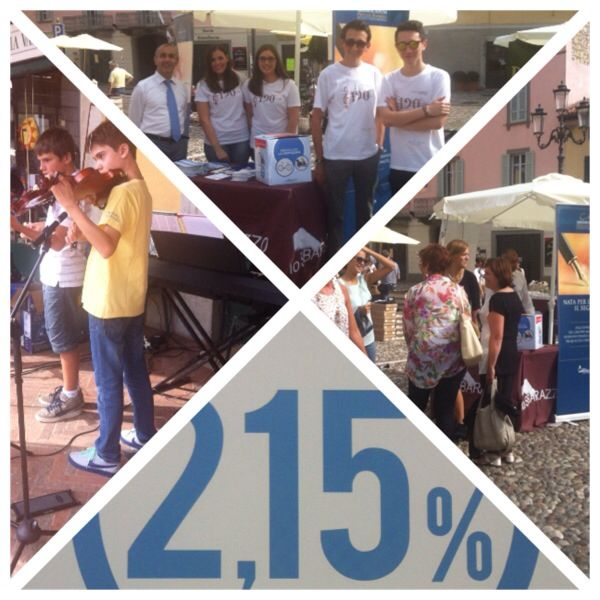 Banca mediolanum, la scuola di musica e la banda di Rovato allo sbarazzo del 21.9.14