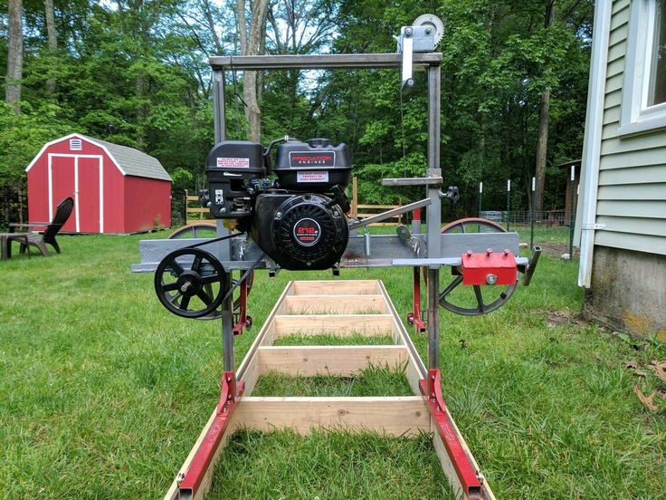 Dennis Atwood recently got into the hobby of woodworking. Wanting a sawmill of his own, he built one with materials from his backyard.