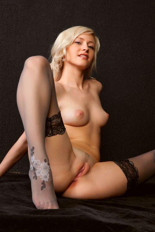 hot sexy naked wearing stockings