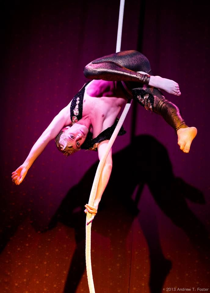 Male Acrobat and Rope Aerialist
