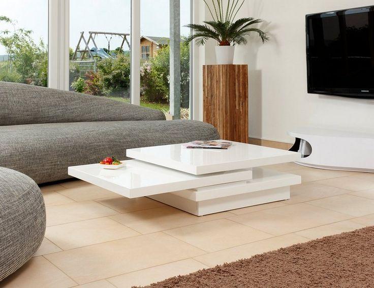 SalesFever Couchtisch Hochglanz weiß »Giaco« für 399,00€. Modernes, ausgefallenes Design, Weiße Hochglanzlackierung bei OTTO