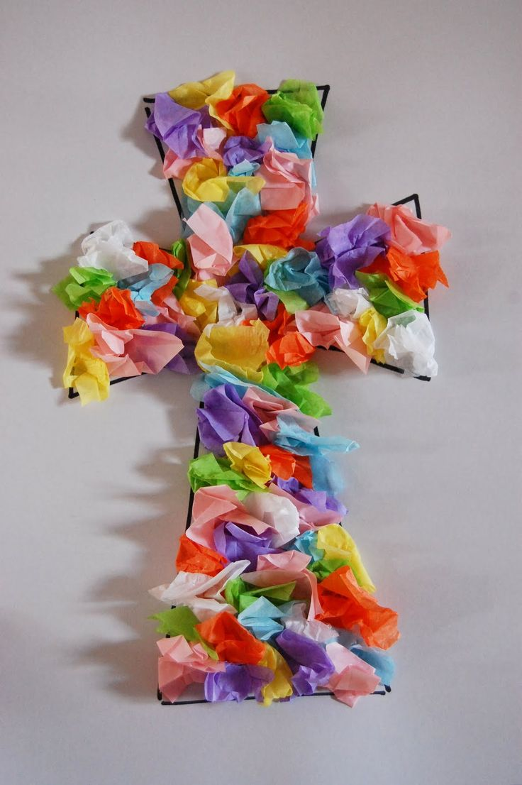Easter crafts for seniors - Cross Craft Easter Craft For Sunday School Kids