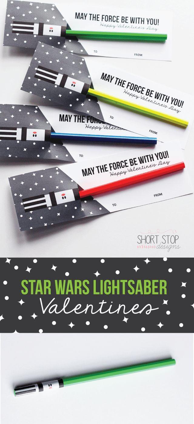 photo regarding Lightsaber Valentine Printable named Star Wars Lightsaber Valentines will on your own be my valentine