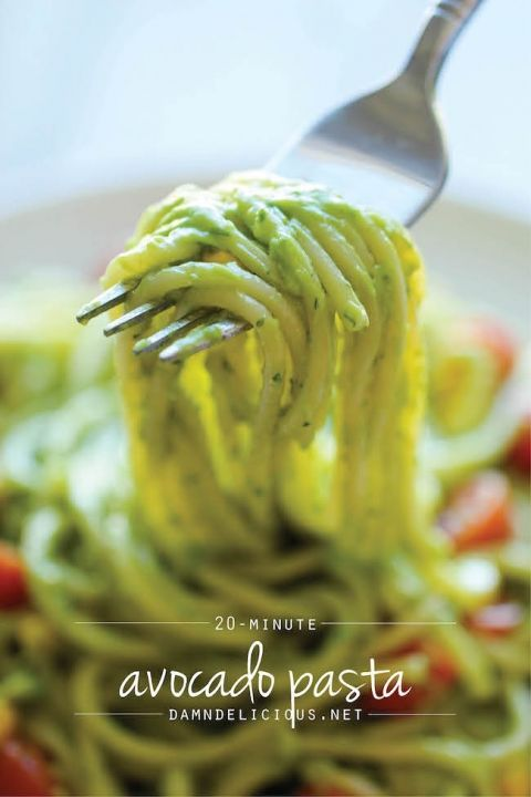 Avocado+Pasta+-+The+easiest,+most+unbelievably+creamy+avocado+pasta.+And+it'll+be+on+your+dinner+table+in+just+20+min!