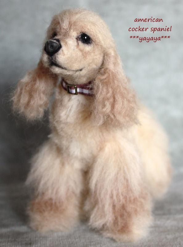 This is a needle felted American Cocker Spaniel ~ Stunning!!