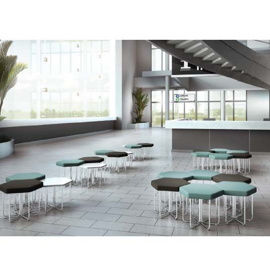 OFM Hex Stools With Optional Hex Tables Make Fun, Functional  Configurations. NEW  Shipping July