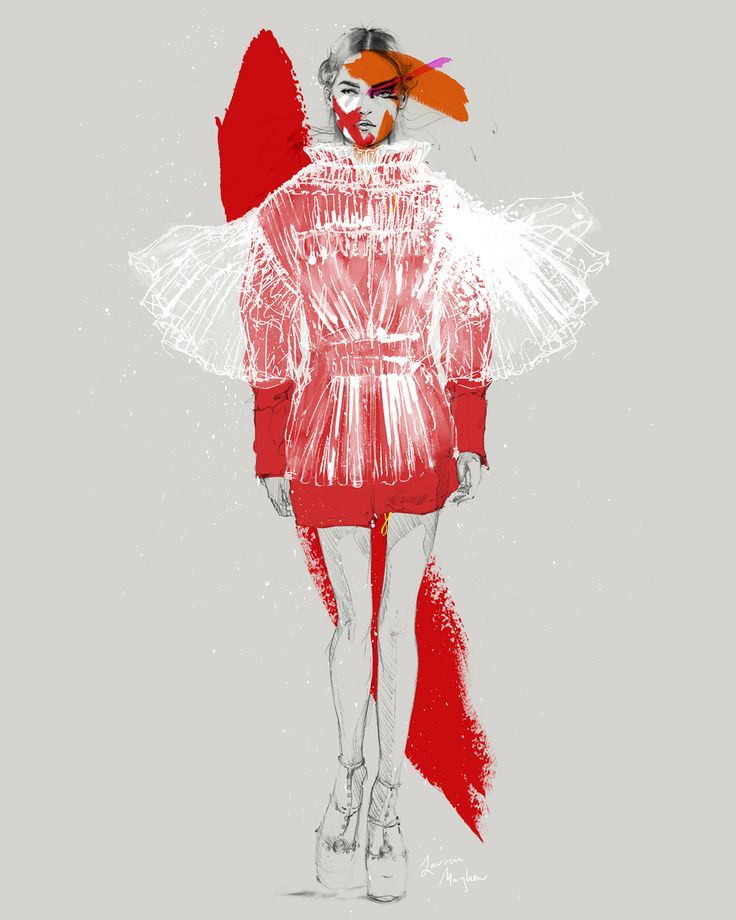 Fashion Illustration – Lauren Breitbarth // Maison Margiela Fall 2016 Couture