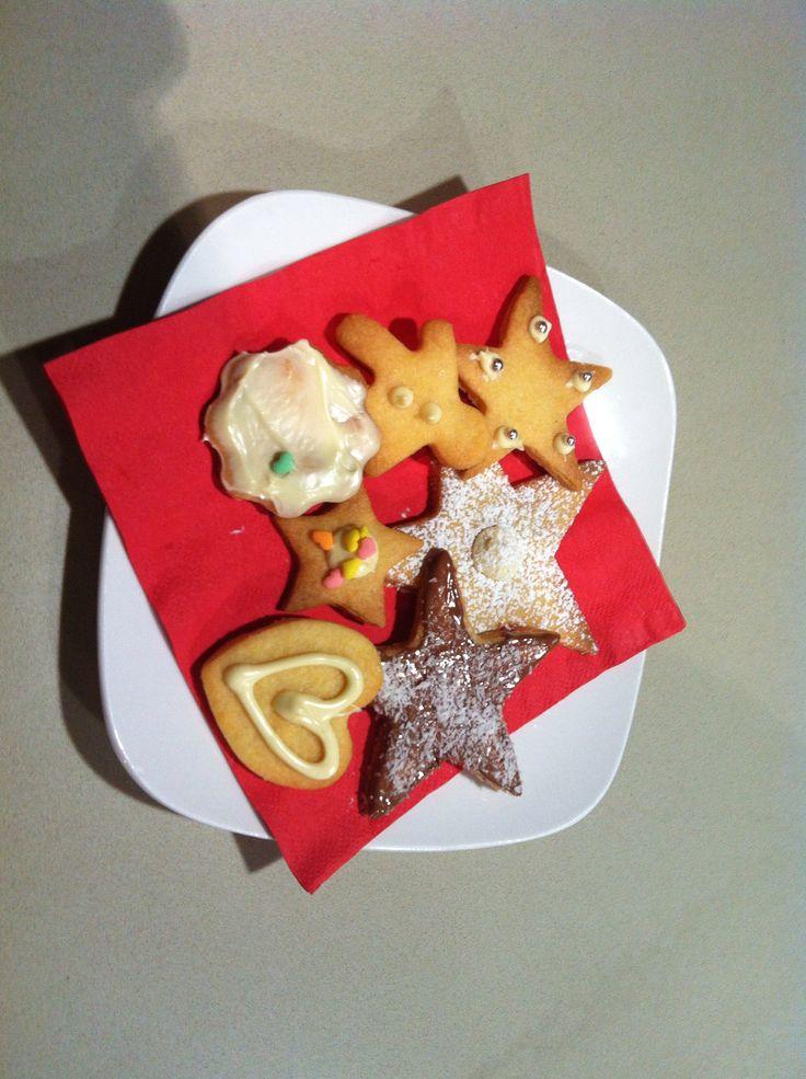 Christmas vanilla snap cookies