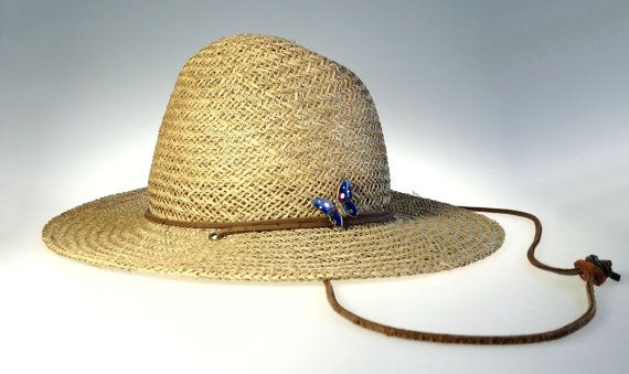Stetson Straw Hat w Chin Strap S / M by WeStartedWithAMouse