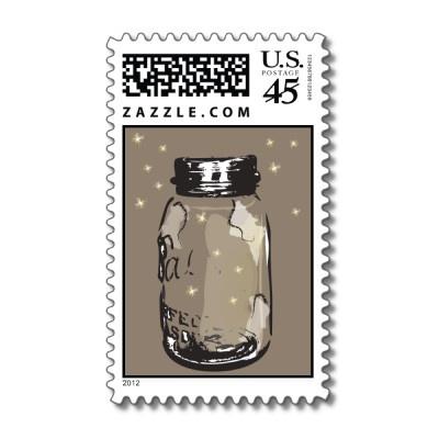 Custom Postage!: Wedding Idea, Weddings, Occasion Stamps, Fireflies Postage, Custom Postage, Jar Stamp, Vintage Mason Jars, Custom Stamps