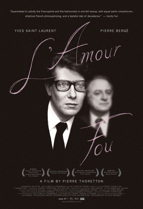 L'Amour Fou - the life story of both the young brilliance of YSL's life and one of the art sales of the century as his life-long partner dismantles his estate after his death