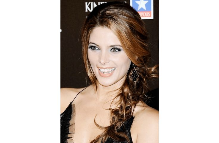#HairStyles  Best Hairstyles Ideas : The sexy bang and side sweep of #AshleyGreene with a messy loose side braid is a...