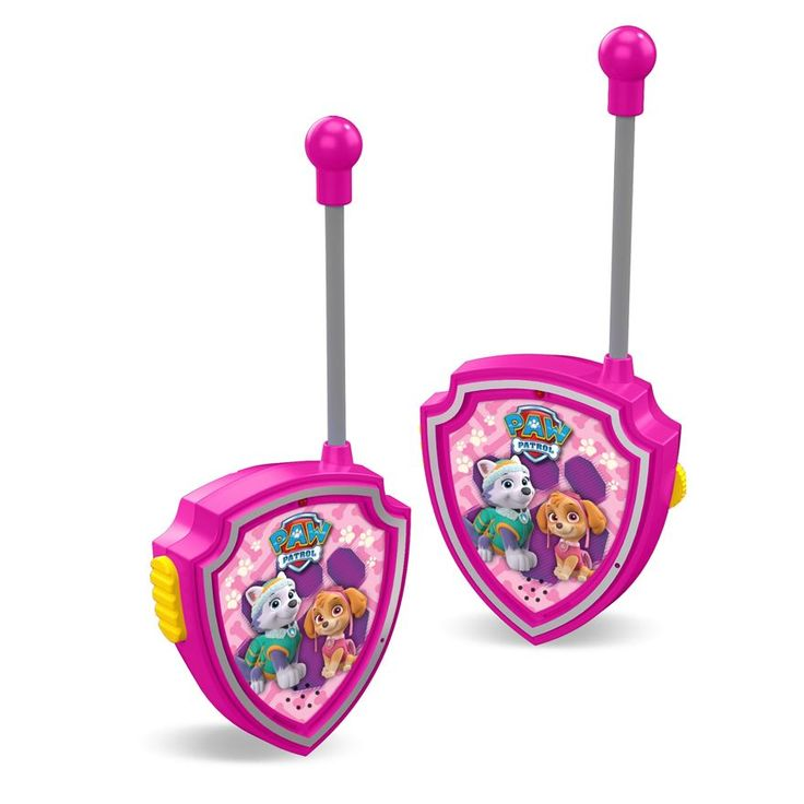 Paw Patrol fans will love these pink Paw Patrol Walkie Talkies, featuring the girl pups – Skye & Everest. These are designed especially for little hands to hold and use. Children can play with their friends, enjoy hours of communication and set off on an adventure just like the Paw Patrol gang