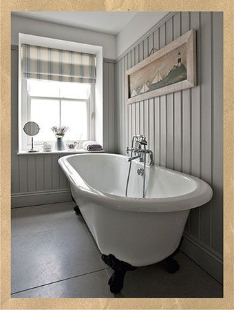 country bathroom country days country homes and interiors Panelling to picture rail save a lot of decorating