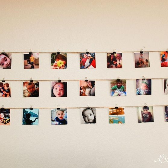 Hanging Instagram Wall Display