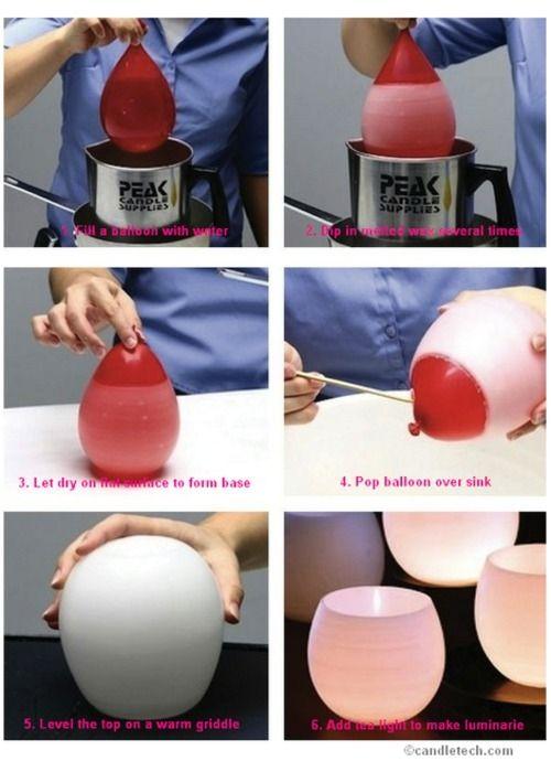 crafts & diy wax candle luminarie craft design light party center piece diy