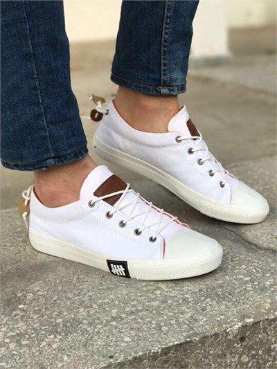 Erkek Günlük Sneakers Spor Ayakkabı Beyaz