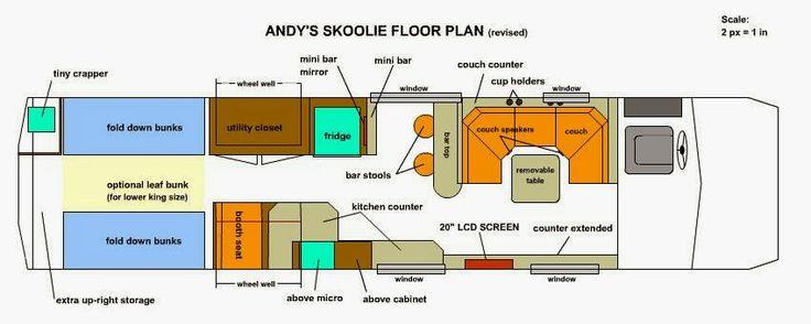 school bus conversion blueprint blueprints and plans