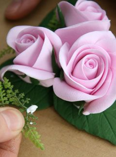 beautiful roses...polymer clay..tutorial