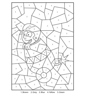 Free Printable Circus Boy Colour By Numbers Activity For Kids