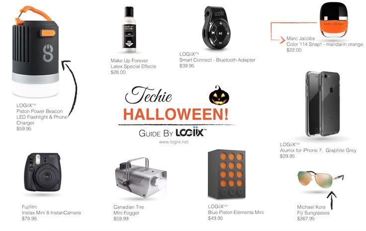 Techie Halloween Guide by LOGiiX™ #Logiix #makeupforever #SmartConnect #marcJacobs #fujicamera #fogmachine #speaker #BluePiston #PistonPower #Beacon #MichaelKors #iPhone7 #cases www.logiix.net