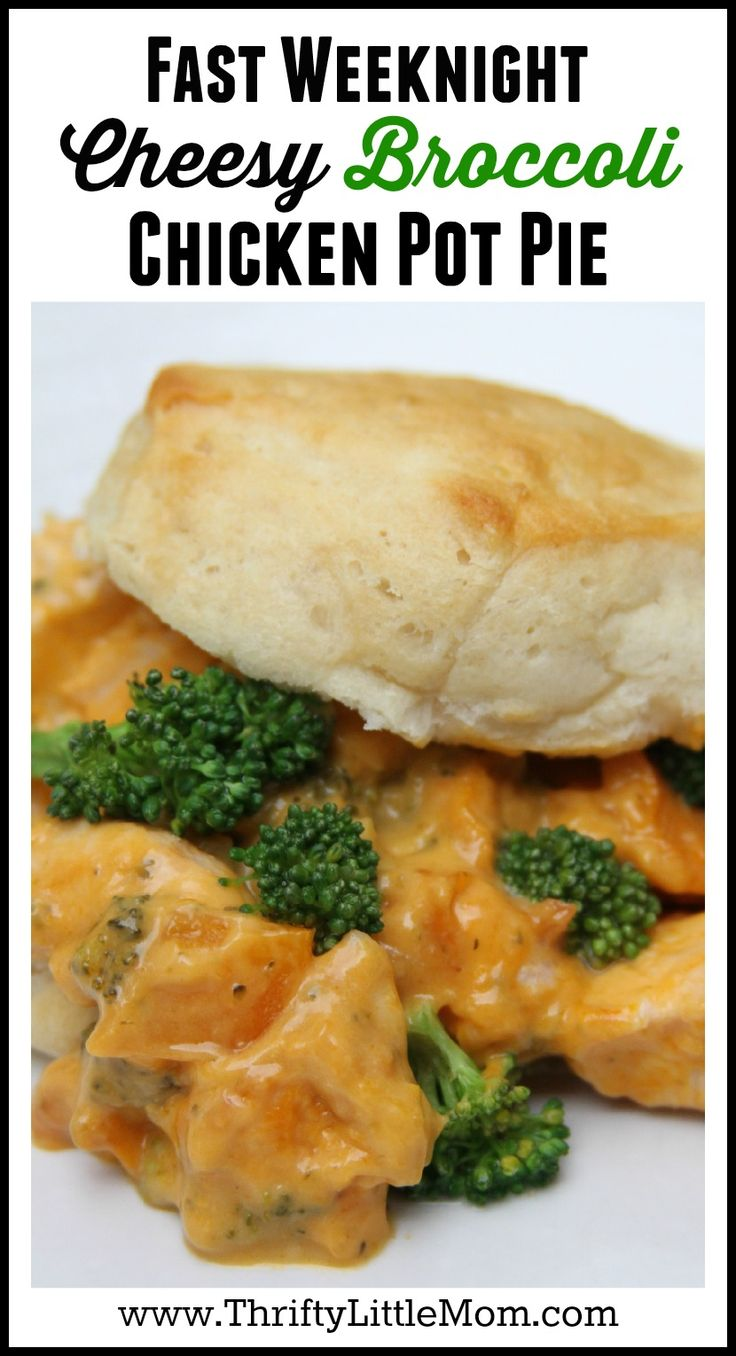 Fast Weeknight Cheesy Broccoli Chicken Pot Pie made using Campbell's Oven Sauces. #ad @Campbells  This is a new twist on an old classic chicken pot pie recipe.