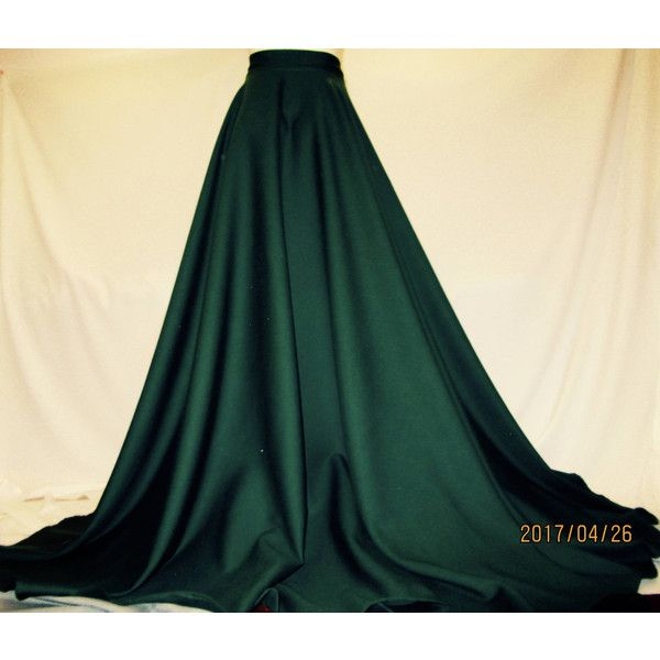 Green Circle Skirt~Pure Wool Green Maxi Skirt~Full Circle Emerald Maxi... ($77) ❤ liked on Polyvore featuring skirts, green, women's clothing, long slip, floor length slip, knee length slip, full length slip and green slip