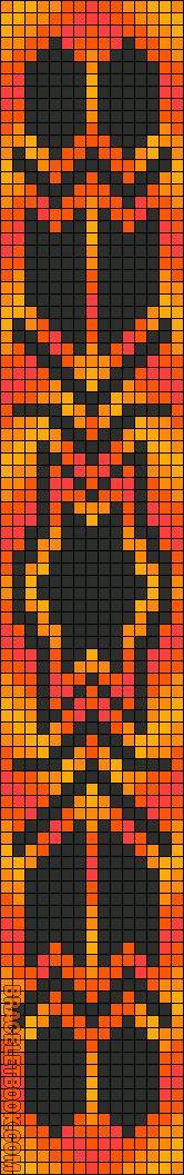 Alpha Friendship Bracelet Pattern #11319 - BraceletBook.com