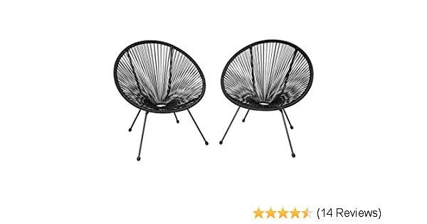 Amazon De Tectake 800729 2er Set Acapulco Garten Stuhl Lounge Sessel Im Retro Design Indoor Und Outdoor Pflegeleicht Relax Lounge Sessel Relaxsessel Retro
