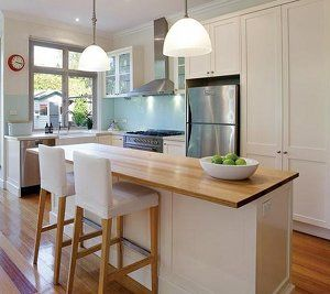 Nice classic white with timber benchtop