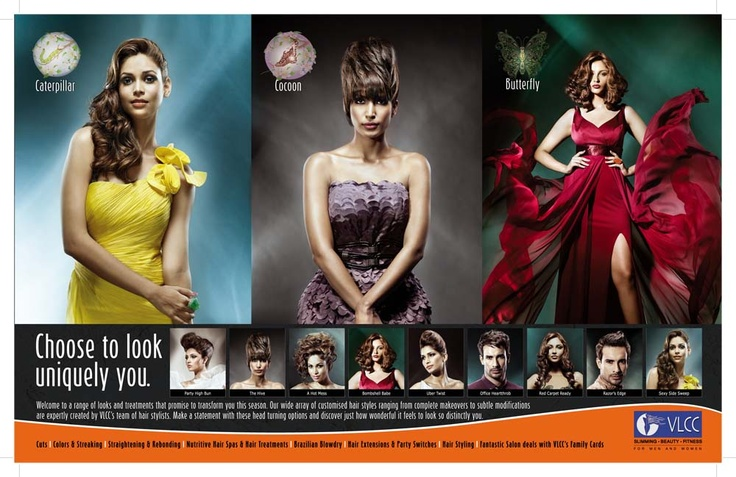 Transform yourself this season with VLCC's Hair Fashion, 'Metamorphosis' – Hair style that will make heads turn!     Visit us now to don an all new hairdo to turn your drab look into a fab look.