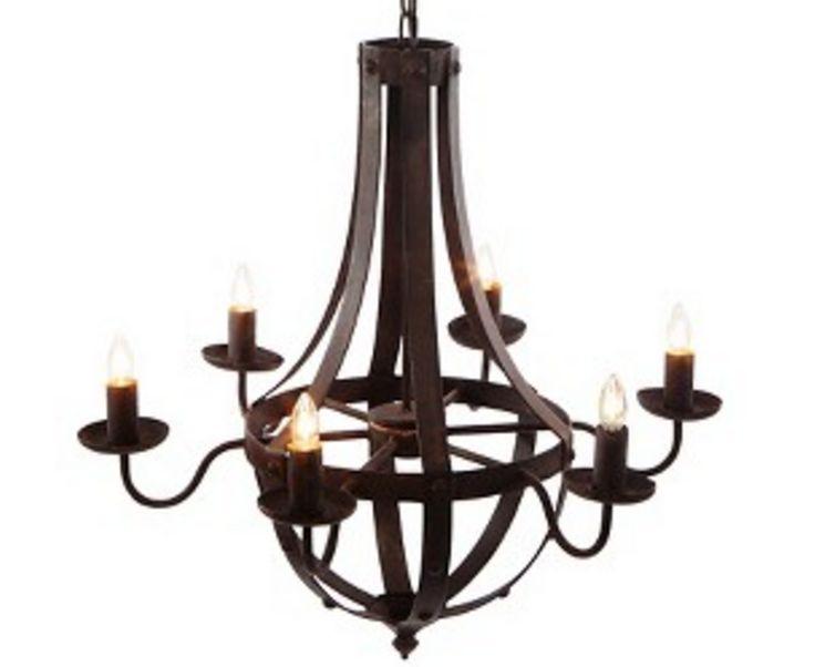 modern industrial farmhouse chandelier
