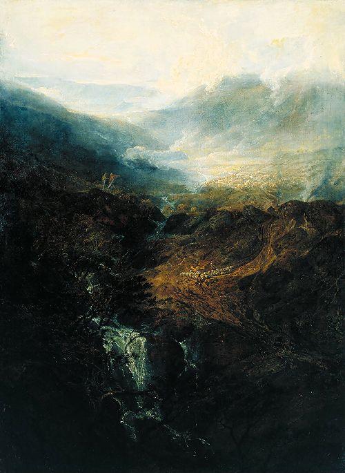J.M.W. turner - morning amongst the coniston falls, cumberland, 1798
