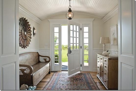 front door: The Doors, Benches, Interiors Design, Front Doors, Coastal Living, Beaches Houses, Front Entry, Entry Hall, Entrance