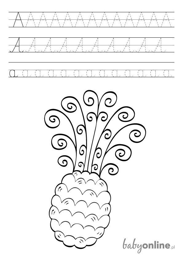 Wydrukuj gotowy szablon pomocny dziecku podczas pierwszych prób nauki pisania. Bawcie się i uczcie!