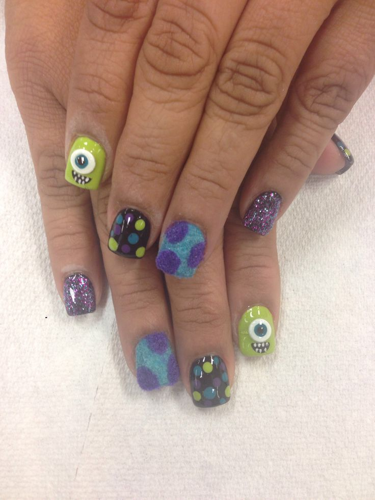 Monster's Inc nails! Sully!!!!