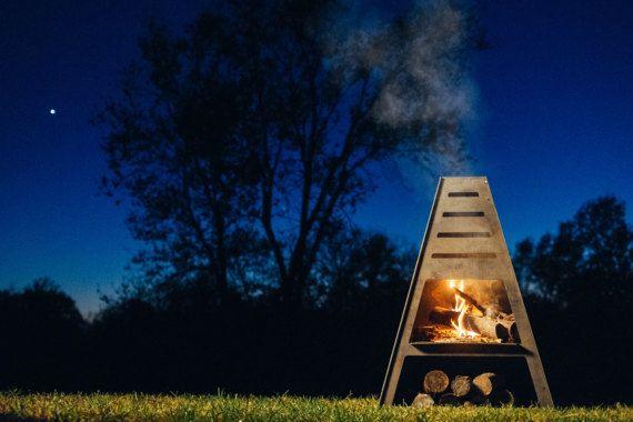 Blaze Tower Metal Chiminea Outdoor Fireplace Fire by BadIdeaSupply