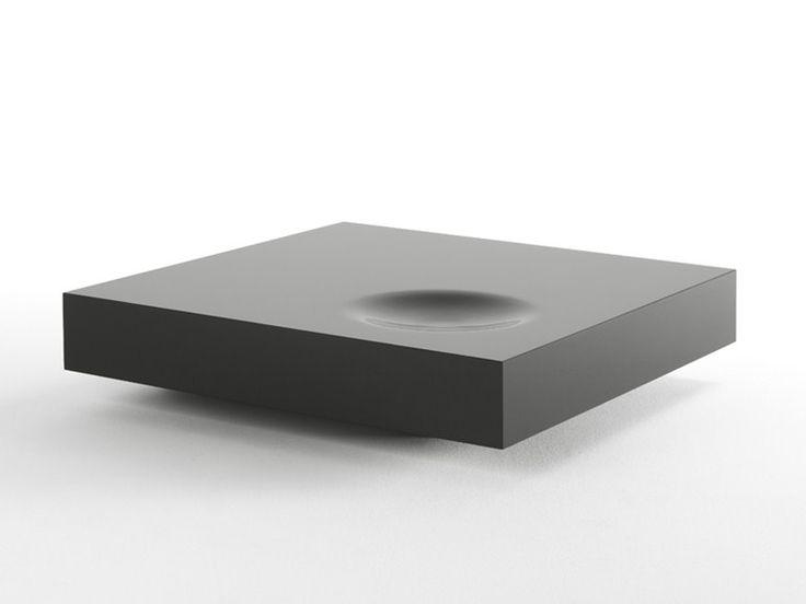 Mesa de centro baixa lacada quadrada PLAT by Kendo Mobiliario   design Estudi Arola