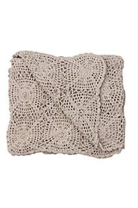 CROCHET COTTON THROW