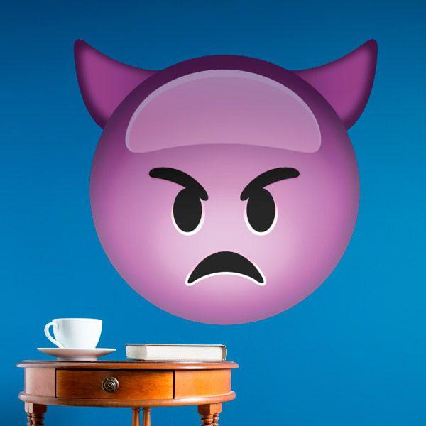 Adesivi Murali: Diavolo maligno #vinili #emoji #emoticon #decorazione #muro #parete #faccias #StickersMurali